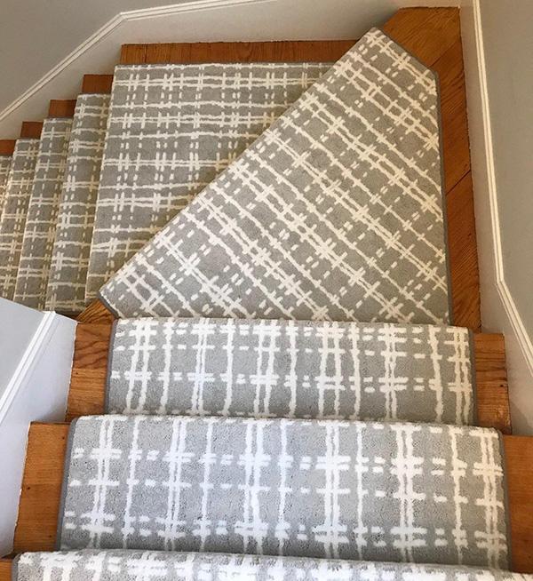 custom carpet for corner stairs