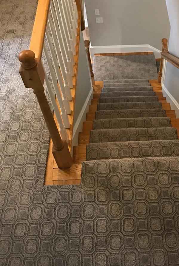custom stairwell carpet