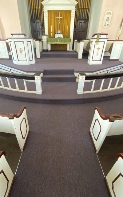replace carpet church